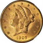 1907-S Liberty Head Double Eagle. MS-63 (NGC).