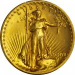 MCMVII (1907) Saint-Gaudens Double Eagle. High Relief. Flat Rim. MS-66 (PCGS). Secure Holder.