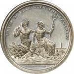 1826 Erie Canal Completion. White Metal. 45 mm. HK-1. Rarity-6. MS-61 (NGC).