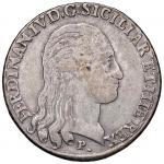 Italian coins;NAPOLI Ferdinando IV (1759-1816) Piastra 1798 - Magliocca 259 AG (g 27.08)  - MB;80
