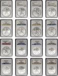 Complete Date Set of Silver Eagles, 1986-2019. MS-69 (NGC).