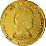 COLOMBIA. 16 Pesos, 1841-POPAYAN RU. Popayán Mint. NGC VF-20.