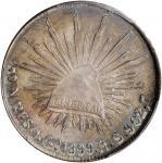 MEXICO. Peso, 1899-Go RS. Guanajuato Mint. PCGS MS-66 Gold Shield.