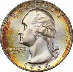 1964-D Washington Quarter. MS-67 (PCGS). CAC.