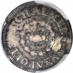 1783 John Chalmers Shilling. W-1790. Rarity-4. Birds, Long Worm. Fine Details--Repaired (PCGS).