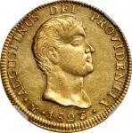 MEXICO. 8 Escudos, 1823-Mo JM. Mexico City Mint. Augustin I Iturbide. NGC MS-61.