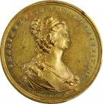MEXICO. Maria Luisa/Royal Order of Noble Ladies Gilt Bronze Medal, 1793. Mexico City Mint. PCGS SPEC