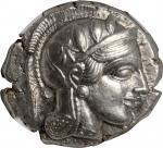 ATTICA. Athens. AR Tetradrachm (17.17 gms), ca. 440-404 B.C. NGC Ch AU★, Strike: 5/5 Surface: 4/5.