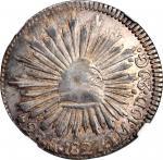MEXICO. Hookneck 2 Reales, 1824-Mo JM. Mexico City Mint. NGC AU-55.