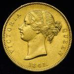 INDIA British-India イギリス領インド Mohur 1841(c)   Cleaned 洗浄 EF
