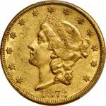 1873-CC Liberty Head Double Eagle. EF-45 (PCGS).