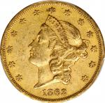 1863 Liberty Head Double Eagle. EF-40 (PCGS).