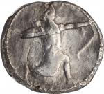 PERSIA. Achaemenidae. AR Tetradrachm, Uncertain mint in Caria, ca. 350-334 B.C. NGC Ch F. Punch Mark