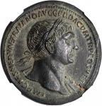 TRAJAN, A.D. 98-117. AE Sestertius (27.61 gms), Rome Mint, ca. A.D. 103-111.