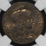 FRANCE 3rd Rep 第三共和政(1870~1940) 5Centimes 1898  NGC-MS64RB UNC+