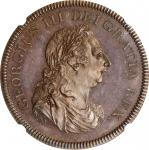 IRELAND. Bronzed Copper 6 Shillings Bank Token, 1804. George III. NGC PROOF-64 Brown.