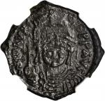 MAURICE TIBERIUS, 582-602. AE 20 Nummi (5.17 gms), Constantinople Mint, Year 7 (A.D. 588/9).