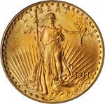 1911-D/D Saint-Gaudens Double Eagle. FS-501. Repunched Mintmark. MS-64 (PCGS).