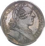 """USA Amérique-Canada (colonies françaises), Louis XV (1715-1774). Jeton """"SATIS UNUS UTRIQUE"""" par Duvi"""