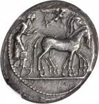 SICILY. Syracuse. Deinomenid Tyranny, 485-466 B.C. AR Tetradrachm (17.40 gms), ca. 485-465 B.C. NGC