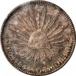 MEXICO. 8 Reales, 1844-Zs OM. Zacatecas Mint. ANACS MS-61.