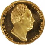 GREAT BRITAIN. William IV Gold Coronation Medal, 1831. NGC PROOF-62 ULTRA CAMEO.