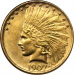 1907 Indian Eagle. No Periods. MS-61 (NGC).