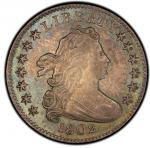 1802 Draped Bust Dime. John Reich-4. Rarity-4. Mint State-62 (PCGS).PCGS Population: 4, none finer.&