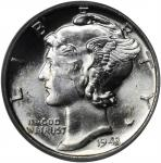 1943 Mercury Dime. PDS Set. MS-66 FB (PCGS). CAC.
