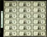 Uncut Sheet of (12) Fr. 1614. 1935E $1 Silver Certificates. PMG Choice Extremely Fine 45 EPQ.