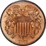 1872 Two-Cent Piece. MS-65 RD (PCGS).