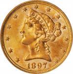 1897 Liberty Head Half Eagle. MS-63 (PCGS). CAC. OGH.