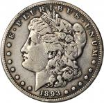 1893-S Morgan Silver Dollar. Fine Details--Cleaned (PCGS).
