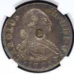 GREAT BRITAIN George III ジョージ3世(1760~1820) Dollar ND(1797)  NGC-AU50 トーン -EF