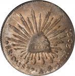 MEXICO. 8 Reales, 1877-Oa AE. Oaxaca Mint. NGC MS-64.