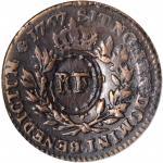 1767-A Sou. Paris Mint. Breen-701. RF Counterstamp. VF-30 (ICG).