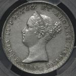 "PORTUGAL ポルトガル 500Reis 1851 PCGS-AU Details ""Cleaning"" 洗浄 EF+KM-471 マリア2世  PCGS-AU Details ""Cleaning"