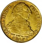 COLOMBIA. 8 Escudos, 1787-P SF. Popayan Mint. Charles III (1759-88). PCGS AU-53 Gold Shield.
