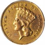 1861 Three-Dollar Gold Piece. EF Details--Repaired (PCGS).