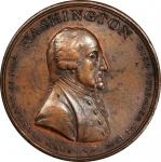 Circa 1803 Fame medal electrotype obverse. Musante GW-87, var., Baker-84, var. Copper Shell on White