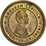 1860 Abraham Lincoln Campaign Medalet. Brass. 19 mm. Dies by George H. Lovett. DeWitt AL 1860-73; Cu