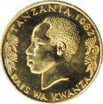 TANZANIA. 20 Senti, 1982. PCGS SPECIMEN-66 Gold Shield.