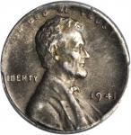 1941 Lincoln Cent--Struck on a Silver Dime Planchet--AU-55 (PCGS).