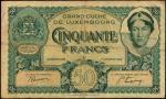 LUXEMBOURG. Grand-Duche De Luxembourg. 50 Francs, 1932. P-38a. Fine.