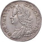 Foreign coins;INGHILTERRA Giorgio II (1727-1760) 6 Pence 1758 - KM 582 AG (g 2.96) Graffio al D/. be