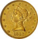 1842-O Liberty Head Eagle. EF-45 (ANACS). OH.