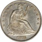 1876 Liberty Seated Half Dollar. WB-101. Type I Reverse. AU Details--Cleaned (PCGS).