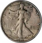 1918-S Walking Liberty Half Dollar. EF-40 (PCGS).