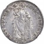 1795年荷兰1盾。 NETHERLANDS. Gelderland. Gulden, 1795. NGC MS-62.