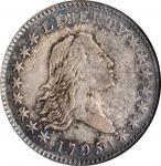 1795 Flowing Hair Half Dollar. O-117a, T-3. Rarity-4. Two Leaves. VF-20 (NGC). OH.